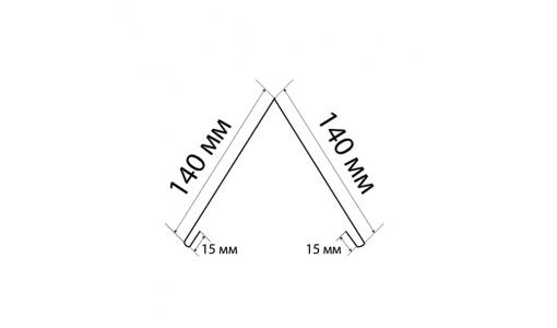 Конек прямоугольный 2000 мм винно-красный (RAL 3005)
