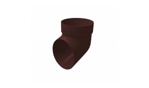 Колено сливное ПВХ GL шоколадное
