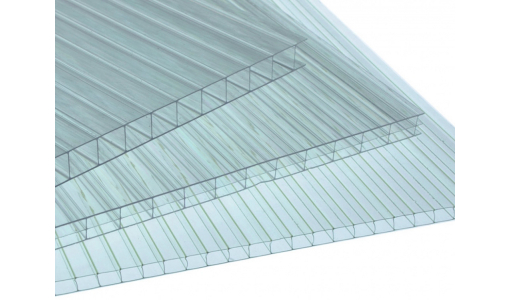 Лист сотовый поликарбонат AgroLux 4,0 мм (прозрачный, 6000х2100)