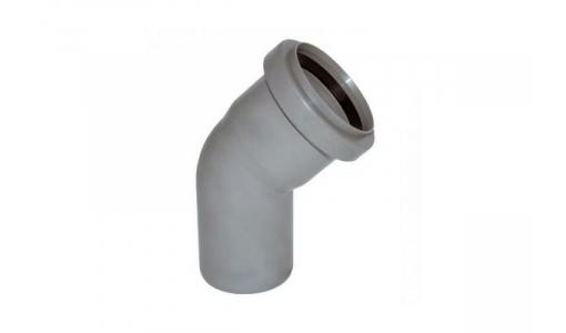 Отвод для внутренней канализации 110мм угол 45°