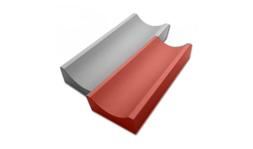 Водосток малый 500х160 красный
