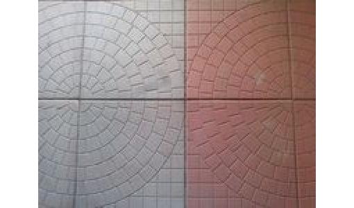 Плитка тротуарная 400х400х45 колодец серый
