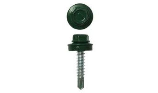 Саморез кровельный 5,5х19 RAL 6005 (зеленый) 300 шт/уп