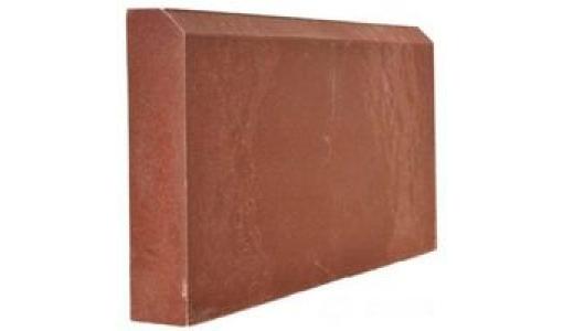 Бордюр полимерно-песчаный 500х250х55 красный
