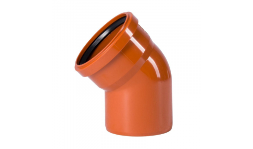 Отвод для наружной канализации 110мм угол 45°