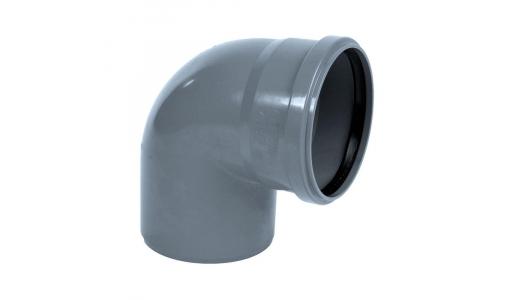 Отвод для внутренней канализации 110мм угол 87°