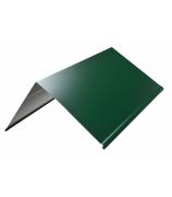 Конек прямоугольный 2000 мм зеленый мох (RAL 6005)