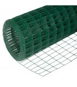 Сетка сварная цинк+ПВХ зеленая 50x50 d-2,2 мм 1,5x15м