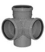 Крестовина для внутренней канализации 110х110х110мм угол 87°двухплоскостная
