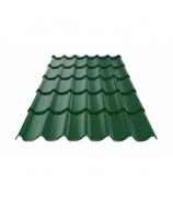 Металлочерепица 0,4 РЕ 1,18х2,20 зелёный мох (RAL 6005)