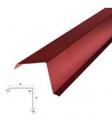 Планка торцевая 2000 мм красная (RAL 3005)