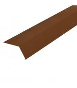 Планка карнизная (капельник) 2000 мм коричневая (RAL 8017)