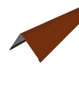 Конек прямоугольный 2000 мм коричневый (RAL 8017)