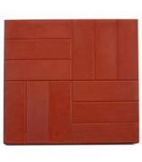 Плитка тротуарная 500х500х45 12 камней красная