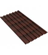 Черепица Ондулин коричневая 950x1950 мм