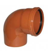 Отвод для наружной канализации 160мм угол 87°