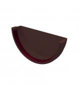 Заглушка желоба универсальная ПВХ GL коричневая