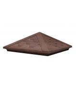 Колпак на столб (Темный шоколад) 460*460*185