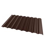 Профнастил С8 РЕ 1,2х2м коричневый 8017