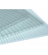 Лист поликарбонатный AgroLux 6,0 мм 2,1х6,0 м прозрачный