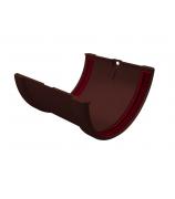 Соединитель желобов ПВХ GL шоколадный
