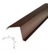 Планка торцевая 2000 мм коричневая (RAL 8017)