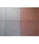 Плитка тротуарная 400х400х45 колодец красный