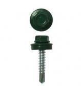 Саморез кровельный 5,5х19 RAL 6005 (зеленый) 250 шт/уп