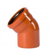 Отвод для наружной канализации 160мм угол 45°