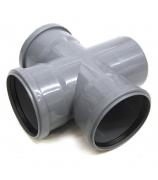 Крестовина для внутренней канализации 110х110х110мм угол 87°