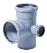 Крестовина для внутренней канализации 110х110х50мм угол 87° двухплоскостная